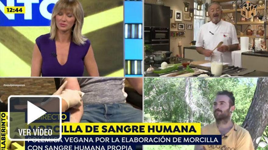 Karlos Arguiñano, rotundo sobre las 'morcillas veganas' de sangre humana