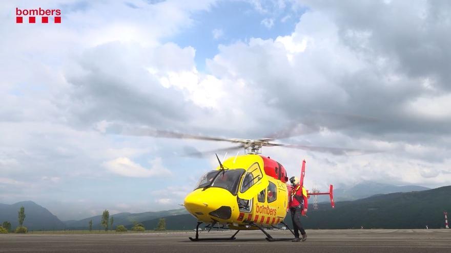 Els Bombers incorporen un nou helicòpter de rescat amb base permanent i personal mèdic del SEM