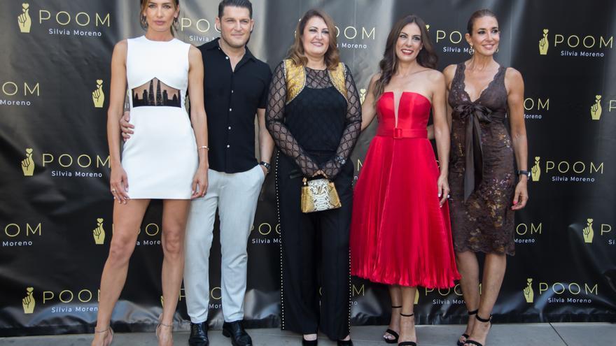 Nieves Álvarez inaugura la tienda POOM de Silvia Moreno en Málaga
