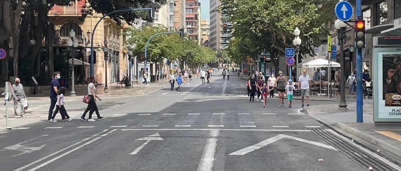 La Rambla de Alicante cortada al tráfico durante los domingos y festivos del mes de mayo y junio
