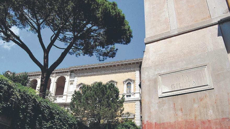 Roma, un café en vía Giulia