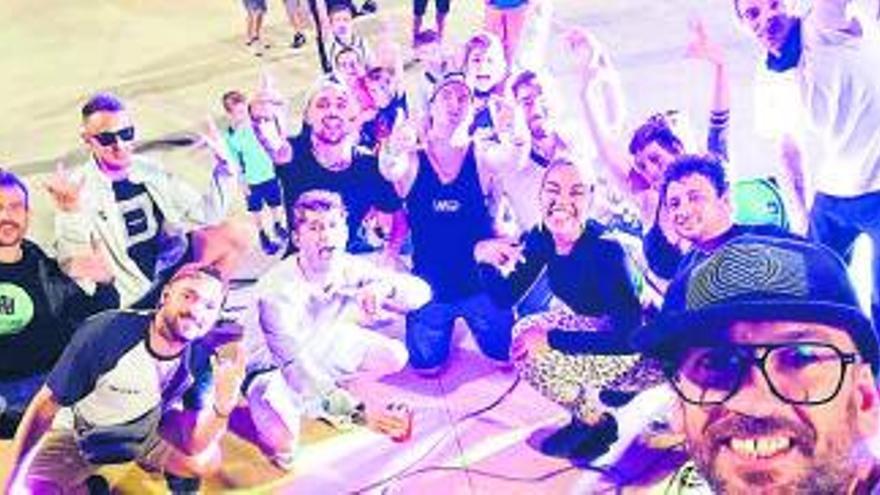 L''skate park' de Sant Fruitós s'omple de cultura urbana en la primera Rap Skate Night