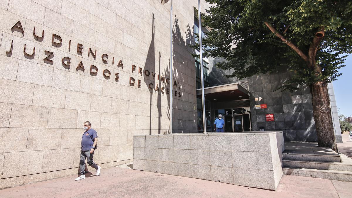 Imagen de la Audiencia Provincial de Cáceres.