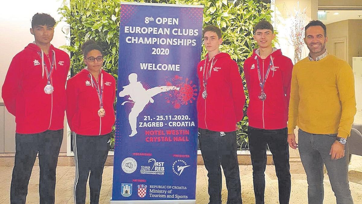 Cuatro medallas de Baleares en el Europeo de Croacia.