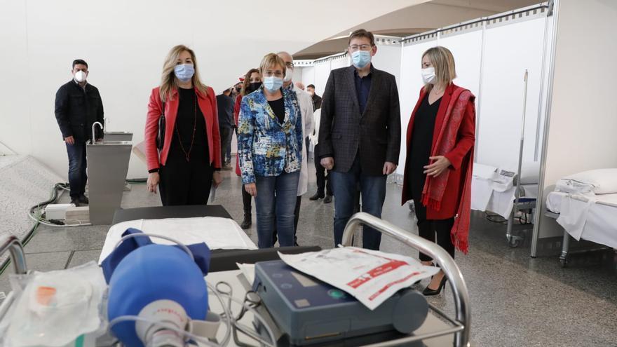 La Generalitat abrirá de momento 70 puntos de vacunación por los problemas en la llegada de dosis