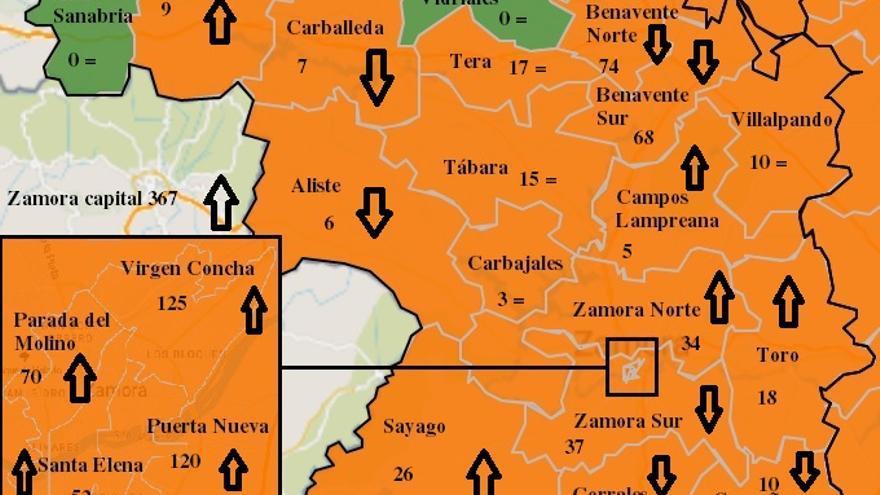 Mapa COVID de Zamora: 63 contagios más en la capital, 40 de ellos en Puerta Nueva