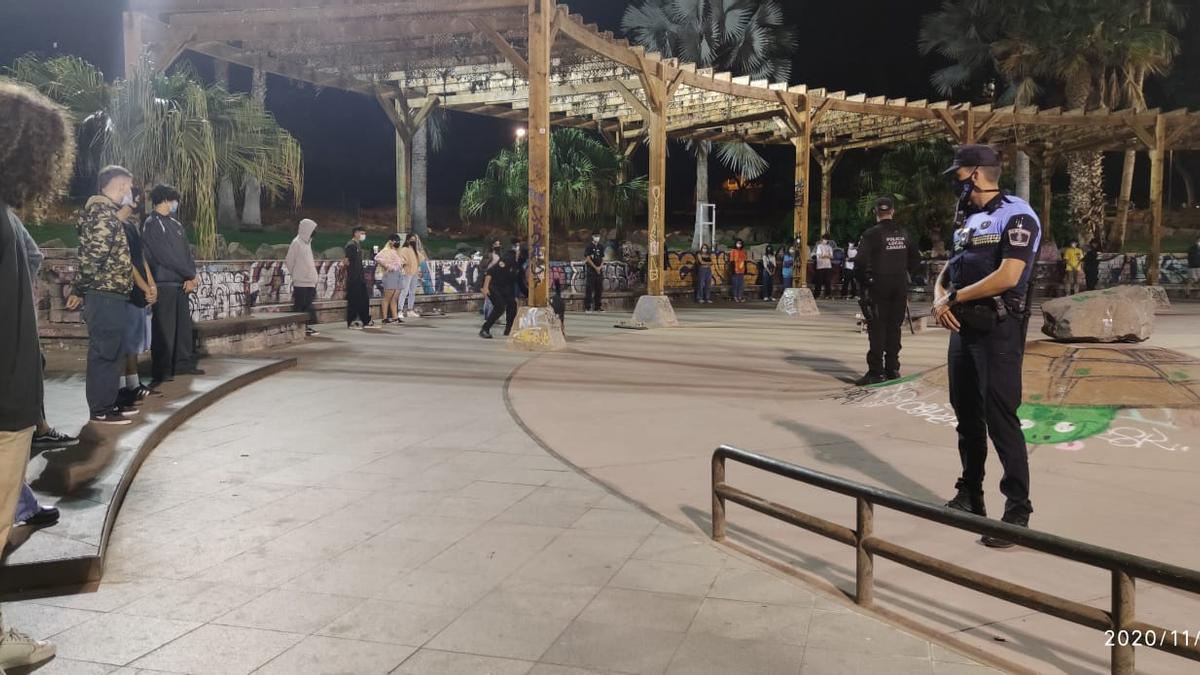 Intervención policial en el parque de La Granja.