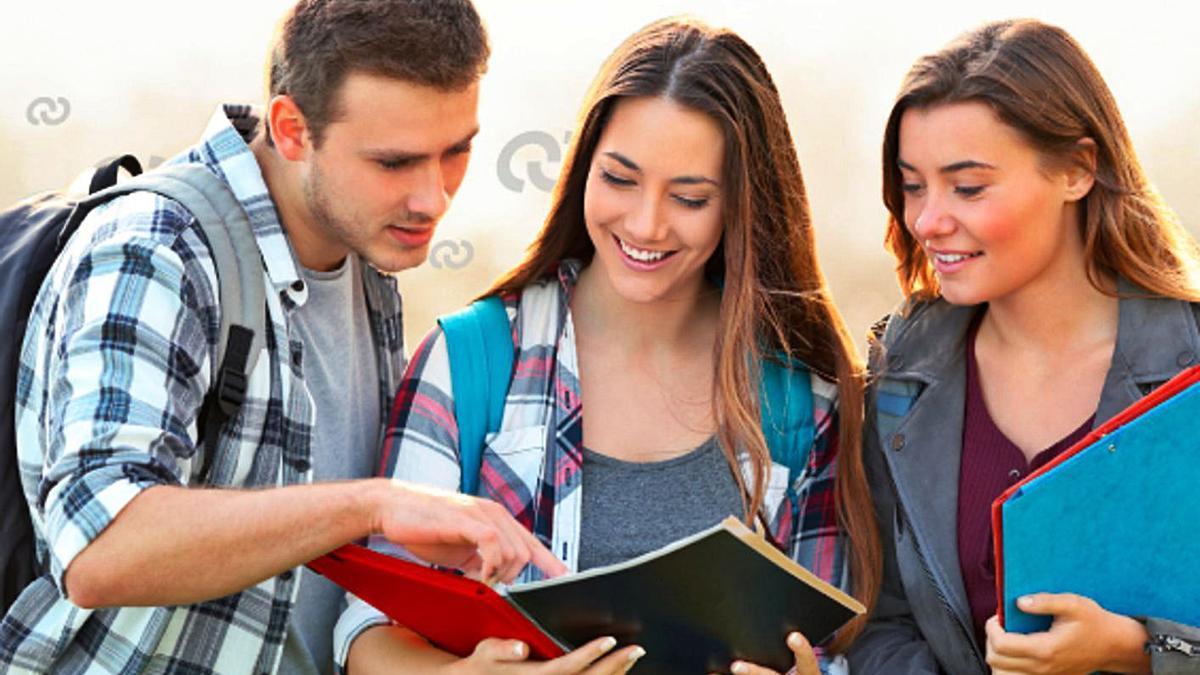 Un grupo de estudiantes. | | E. D.
