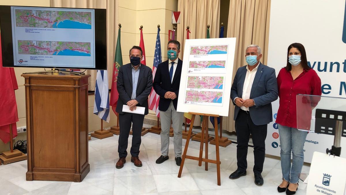 Presentación de las nuevas líneas de la EMT en Málaga capital