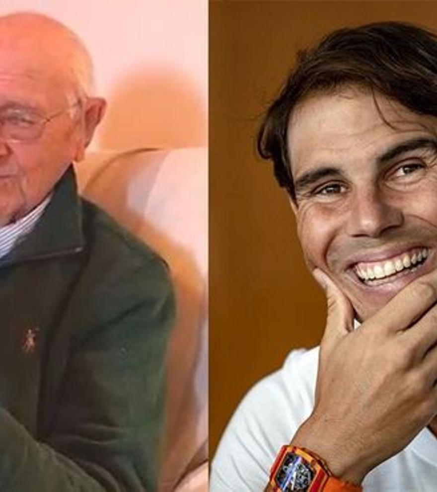Rafa Nadal hace feliz a un abuelo gallego con una felicitación por sorpresa en su 90 cumpleaños