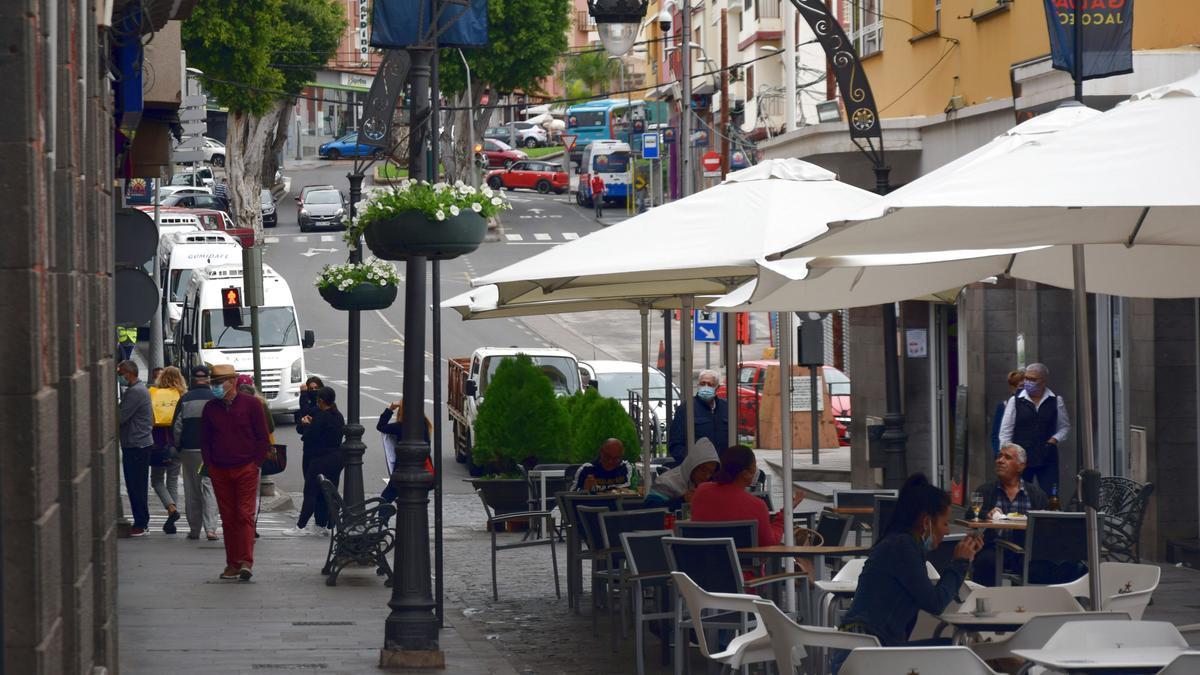 El Ayuntamiento de Gáldar tramita hasta el momento 32 licencias de terrazas durante el nivel 3