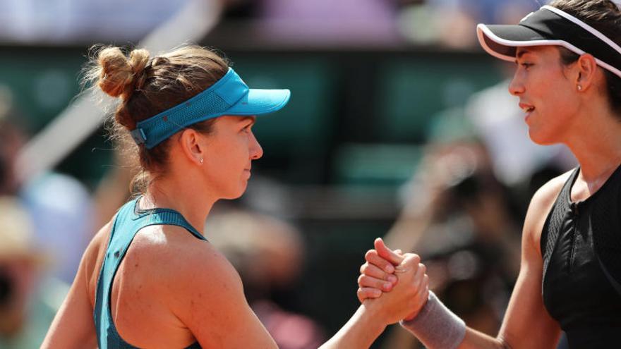 Halep deja a Muguruza sin final en Roland Garros