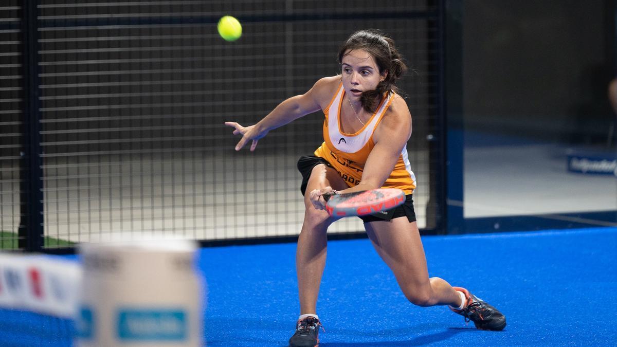Paula Josemaría durante el partido de octavos de final.
