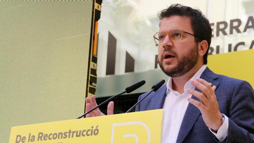 """Aragonès avisa que la crisi de la covid-19 no serà una """"excusa"""" per oblidar l'objectiu de la independència"""