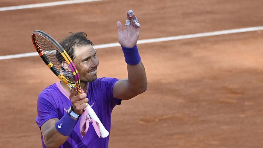 Nadal se cobra en Roma la revancha de Madrid ante Zverev