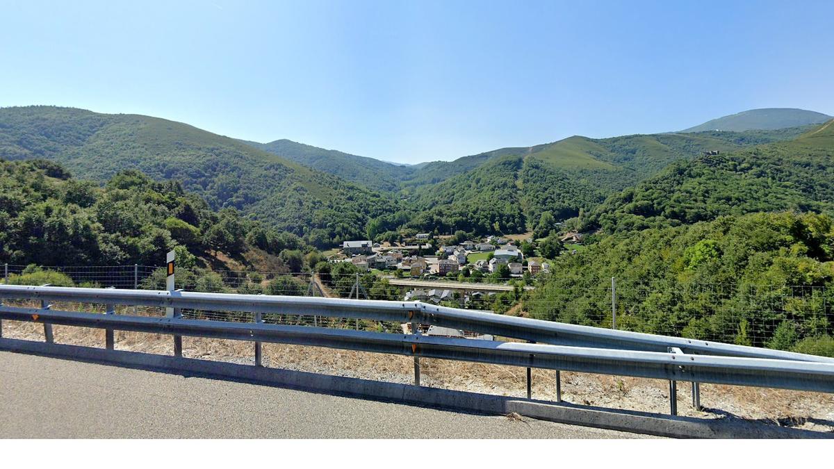 Vista en Vega de Valcarce (León)