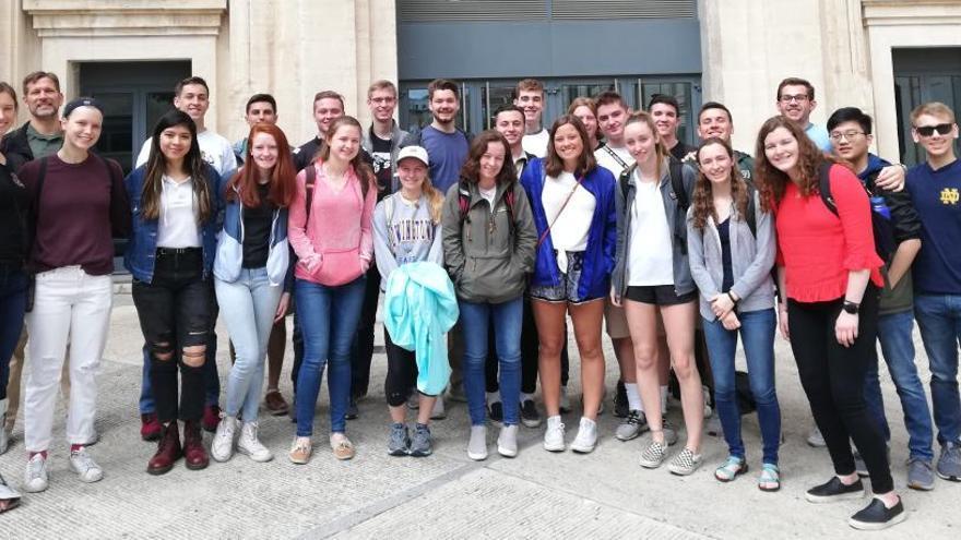 El Campus de Alcoy de la UPV acoge a 28 alumnos de la universidad norteamericana de Notre Dame