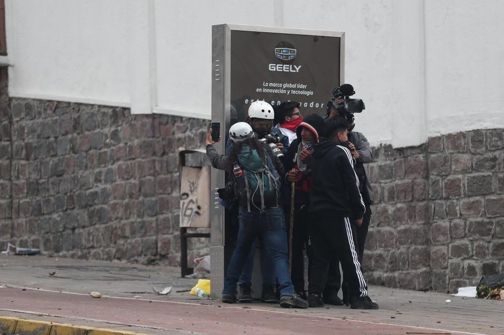 Protestas y disturbios en Ecuador