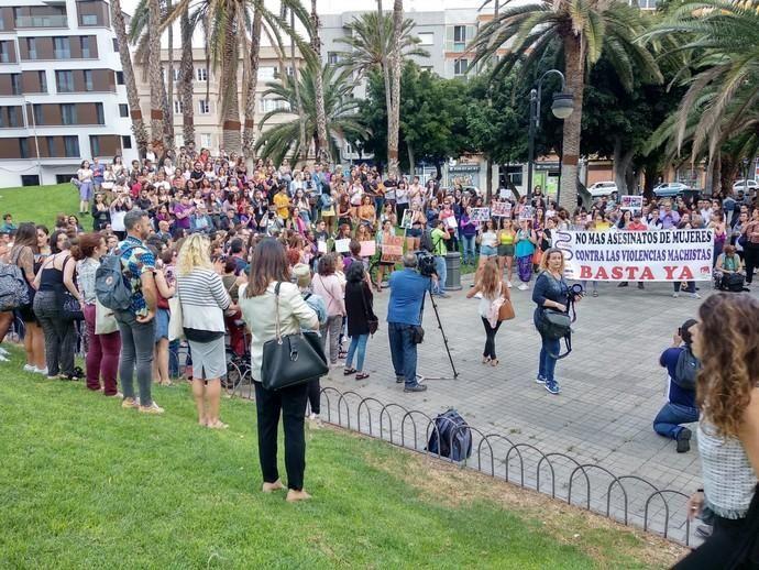 Nueva concentración feminista en la plaza de La Feria
