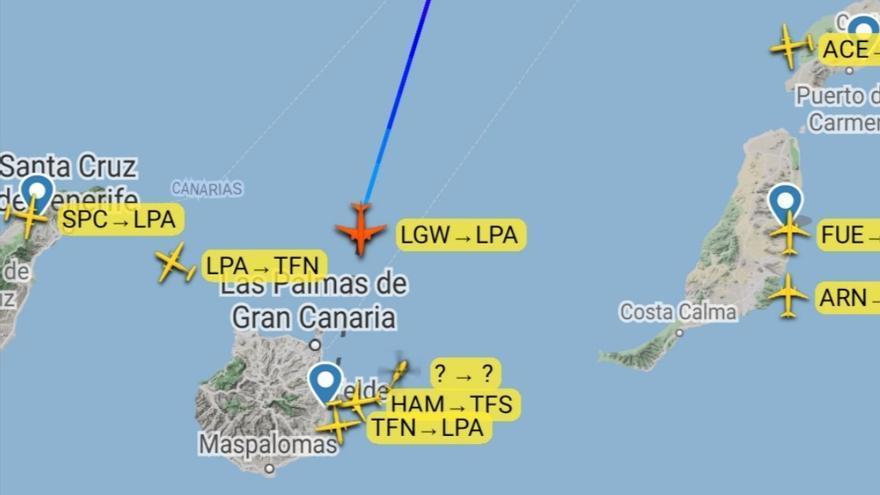 Un vuelo de Londres a Gran Canaria pide ayuda policial por un grupo de pasajeros conflictivos