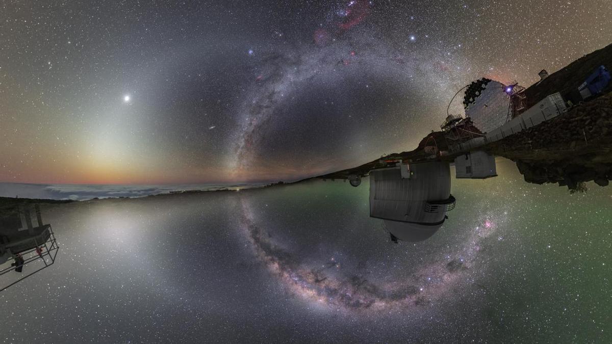 El cielo nocturno sobre dos hemisferios.