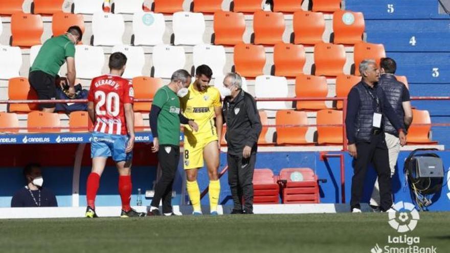 Luis Muñoz, lesionado a los 18 minutos