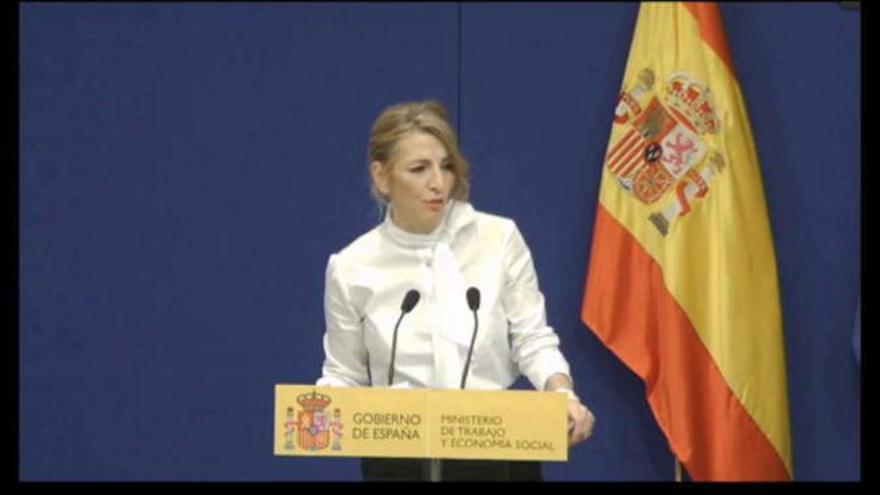 """Yolanda Díaz: """"Los ERTE se prorrogan hasta el 31 de mayo"""""""