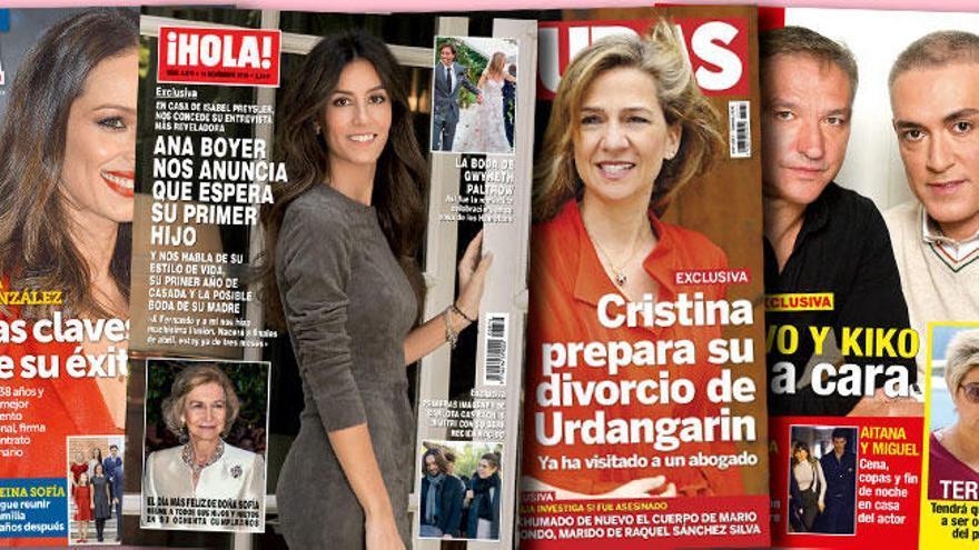 Del embarazo de Ana Boyer al divorcio de la Infanta Cristina
