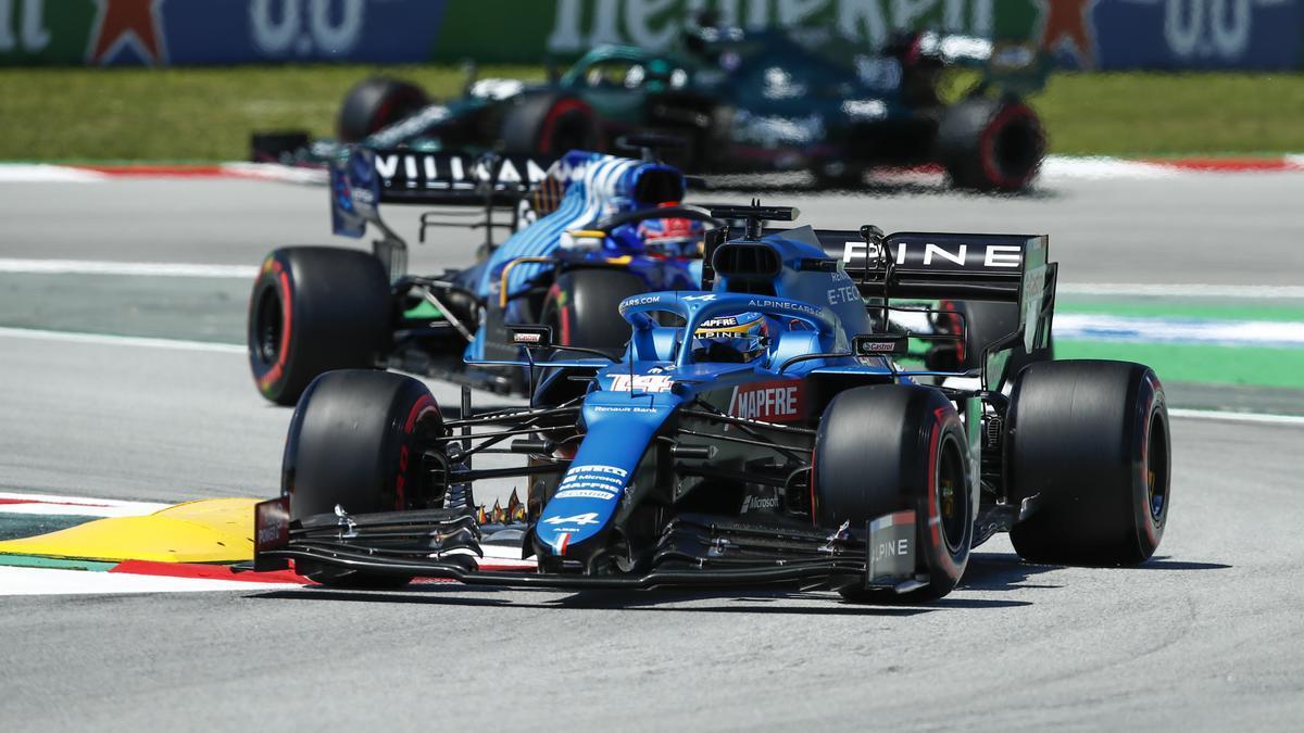 Fernando Alonso a los mandos del Alpine.