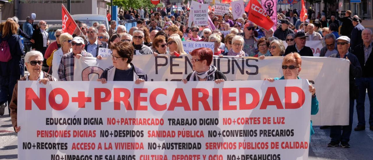 Imagen de una manifestación del 1 de mayo en Elda.