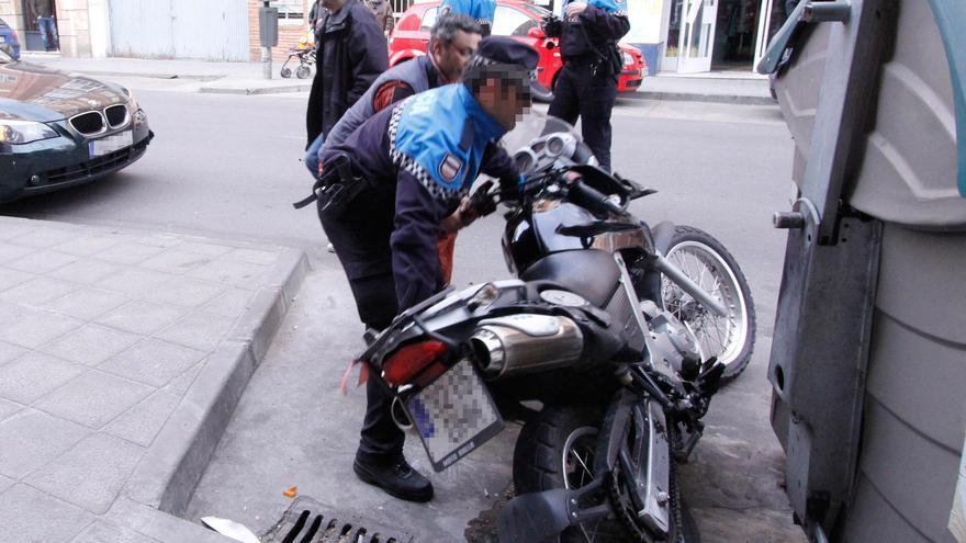 Un accidente en moto.