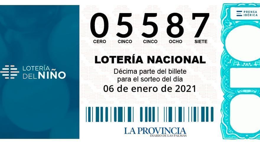 El tercer premio de la Lotería del Niño, para el 05587, generoso con Canarias