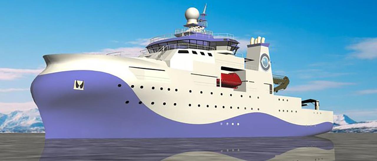 Recreación inicial del oceanográfico proyectado por el IEO.