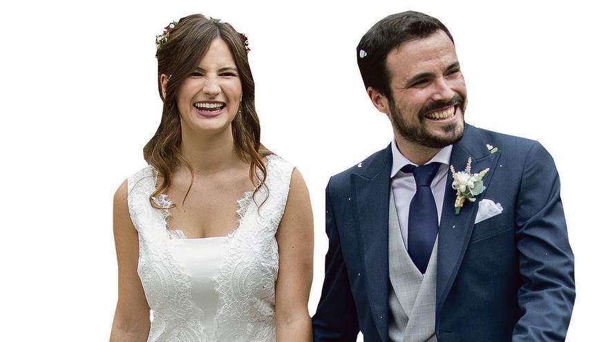 """Alberto Garzón da el """"sí quiero"""" a su novia"""