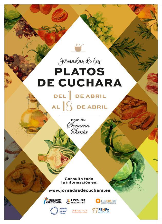 Cartel promocional de las V Jornadas de los Platos de Cuchara – Edición Semana Santa.
