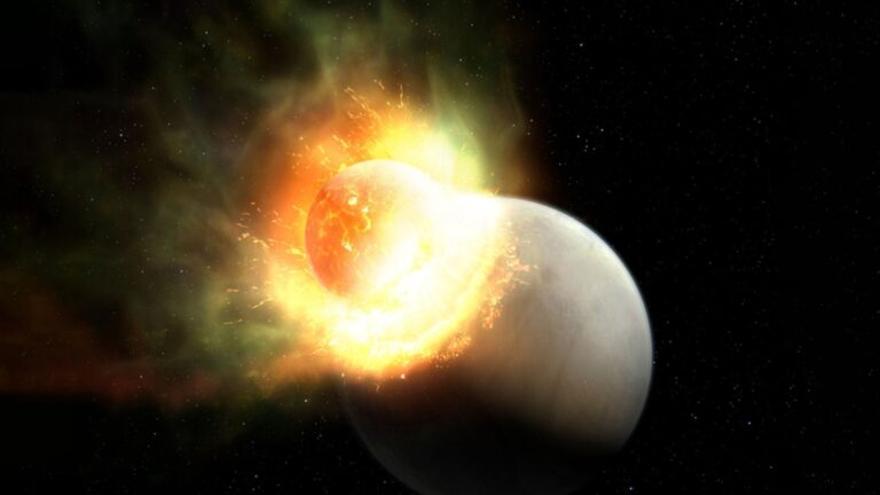 Descubren un planeta a 95 años luz de la Tierra que perdió su atmósfera por un gigantesco impacto