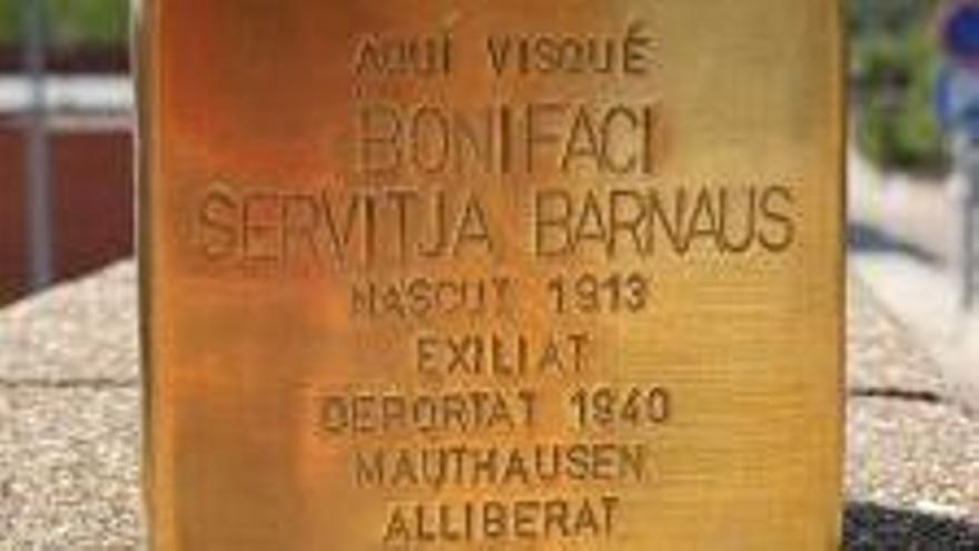 Sant Salvador de Guardiola homenatjarà Bonifaci Servitja i Barnaus, víctima del nazisme amb una placa Stolperstein