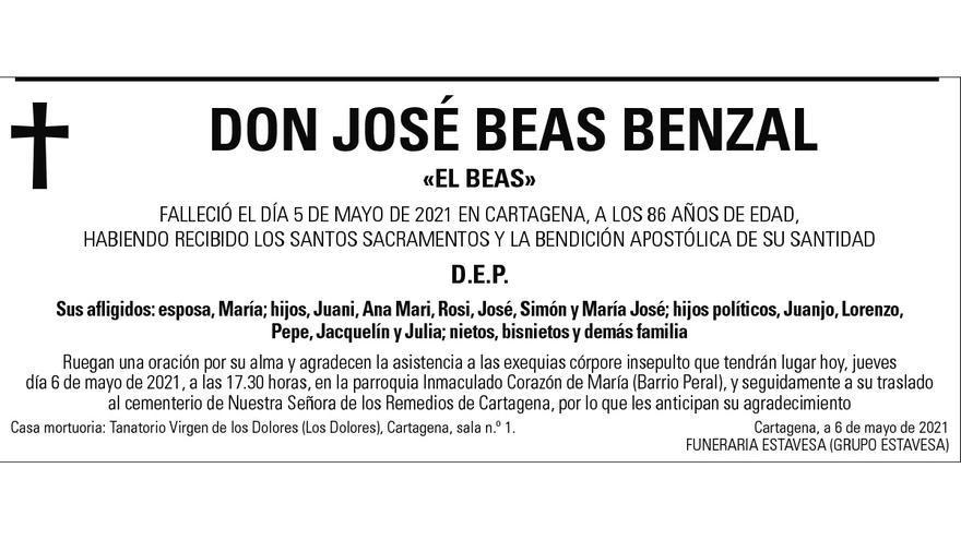 D. José Beas Benzal