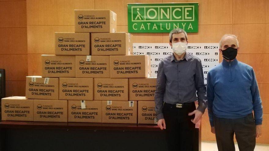 L'ONCE aconsegueix donar 280.000 quilos de menjar als Bancs d'Aliments