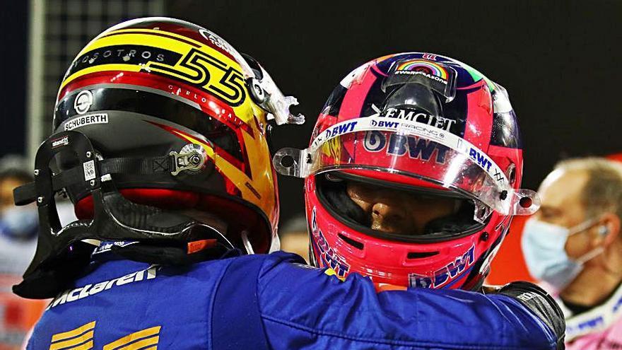 Carlos Sainz roza el podio en Sakhir