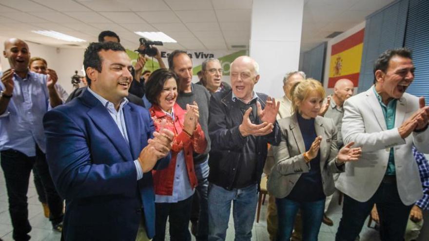 Noche electoral en Vox en Canarias