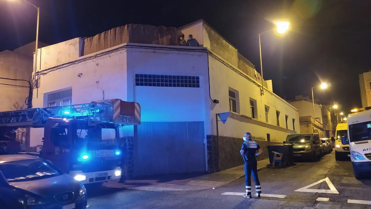 Evacuación contagiago por covid-19 en La Isleta