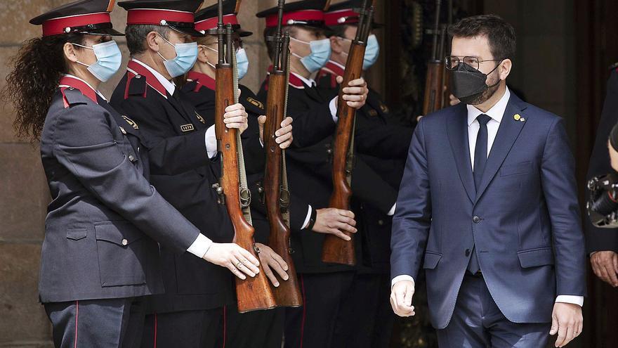 Aragonès apel·la en la seva investidura a ampliar aliances