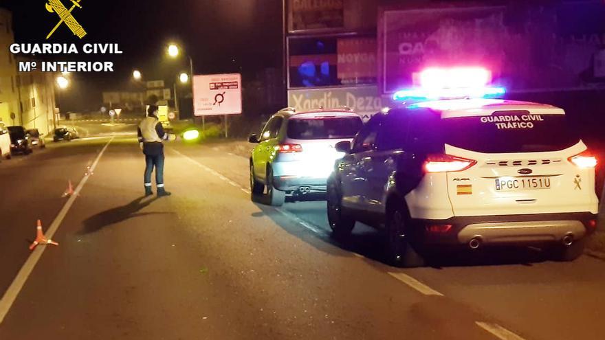 Un menor borracho al volante en Lalín