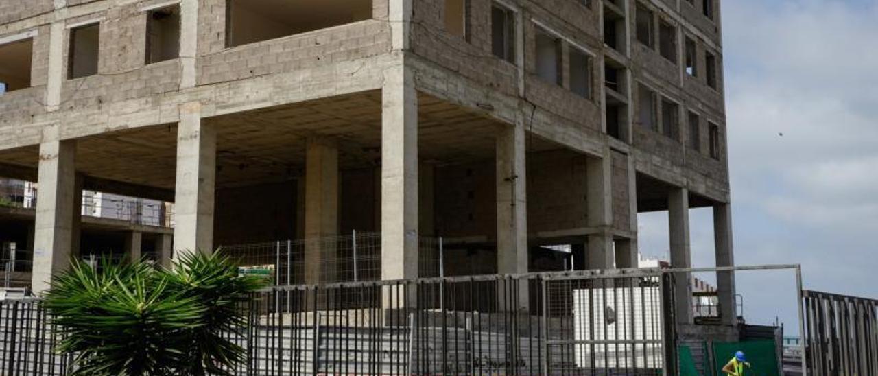 Imagen de archivo de cuando se reanudaron las obras en el Canódromo en 2019.