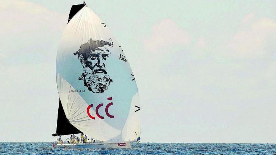 El Rey compite en el barco de «los delgaditos»