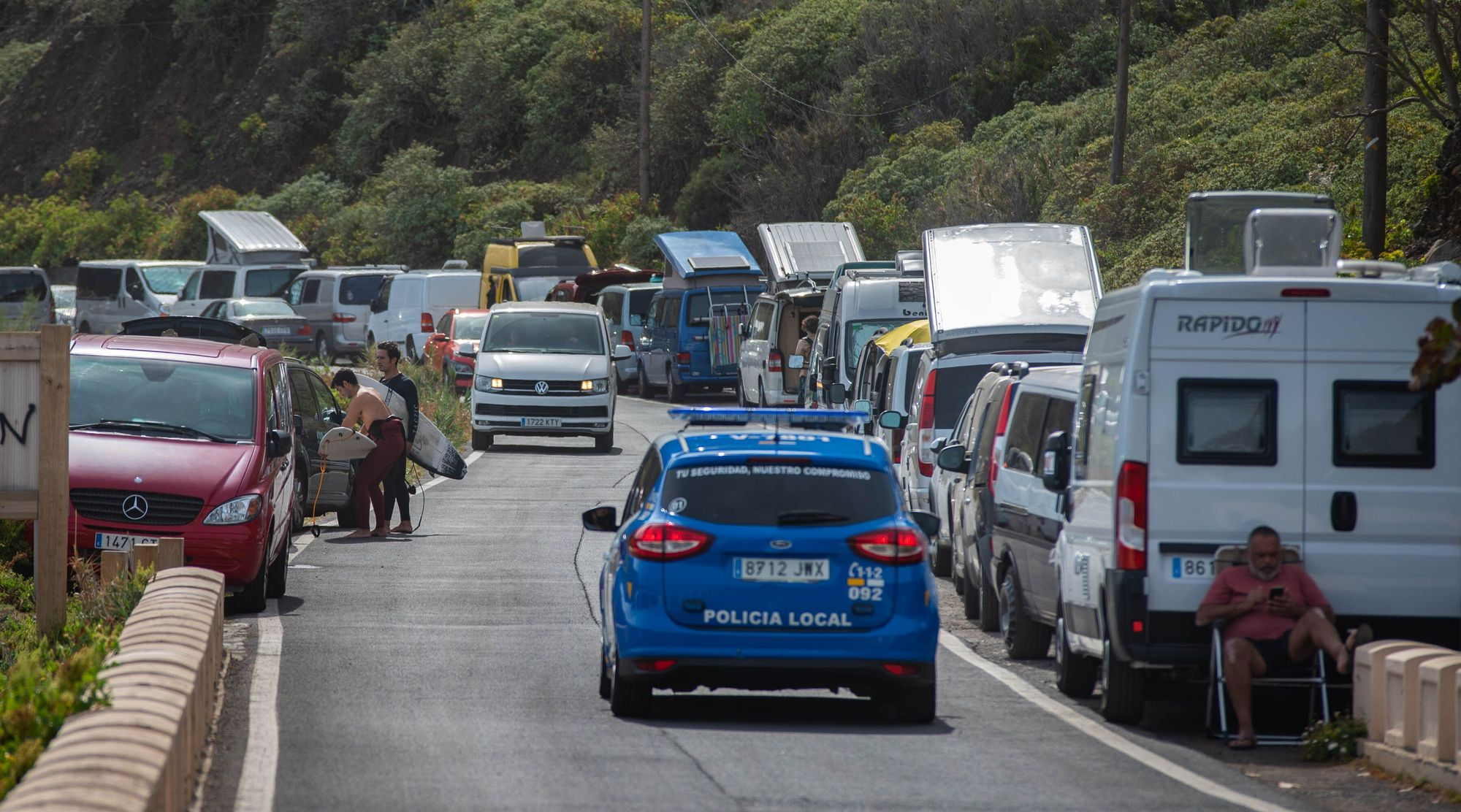 Tráfico en Las Teresitas, Roque de las Bodegas y Benijos