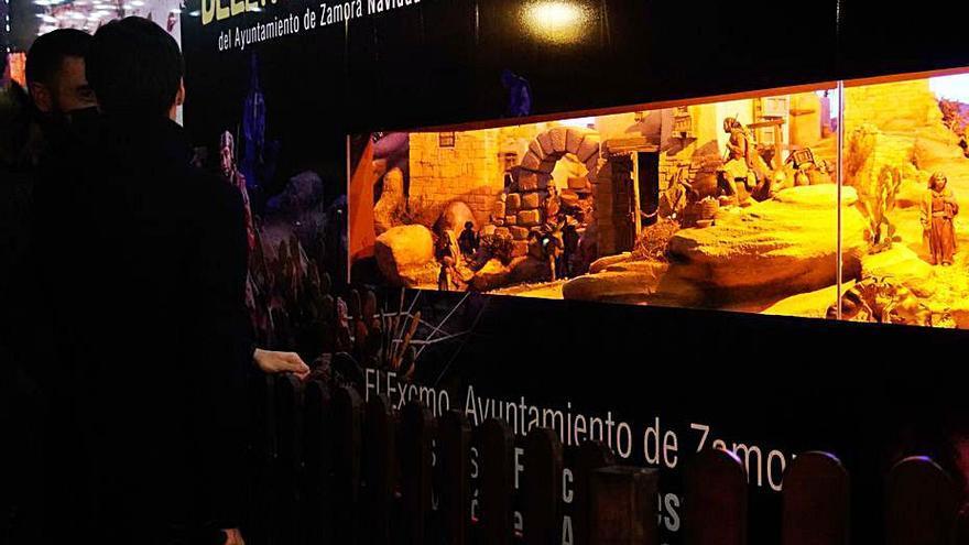 Navidad | Zamora contempla el Belén desde el otro lado del cristal