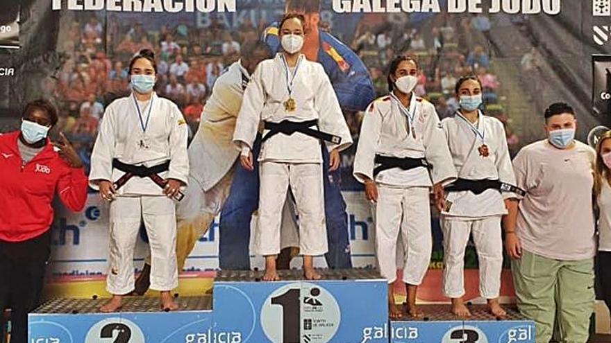 La judoka Alicia López, campeona gallega cadete