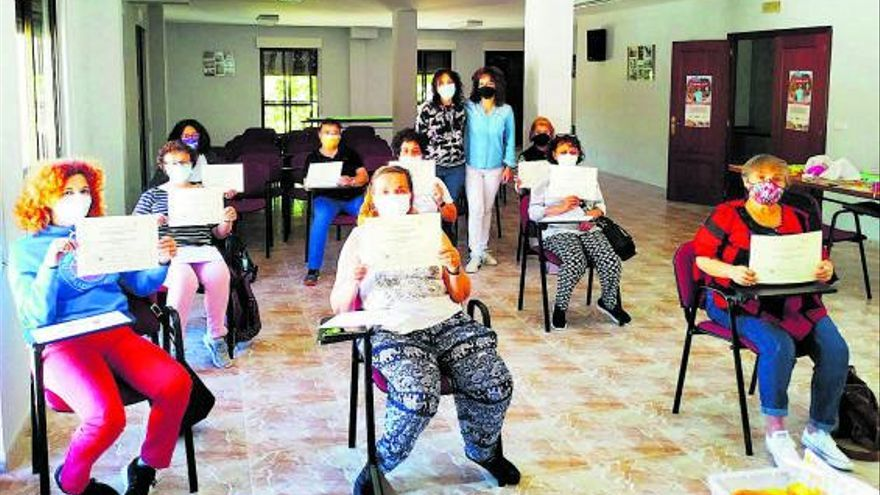 Vecinas de Morales de Toro amplían su formación gerontológica para cuidar a dependientes